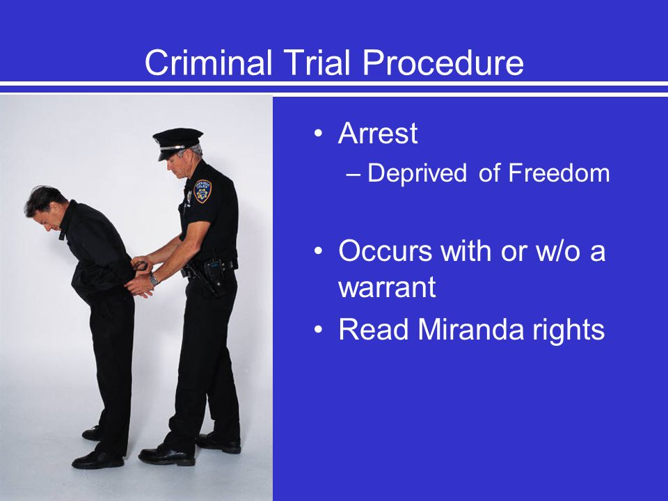 Criminal Trial Procedure