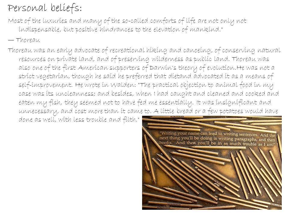 Personal beliefs: