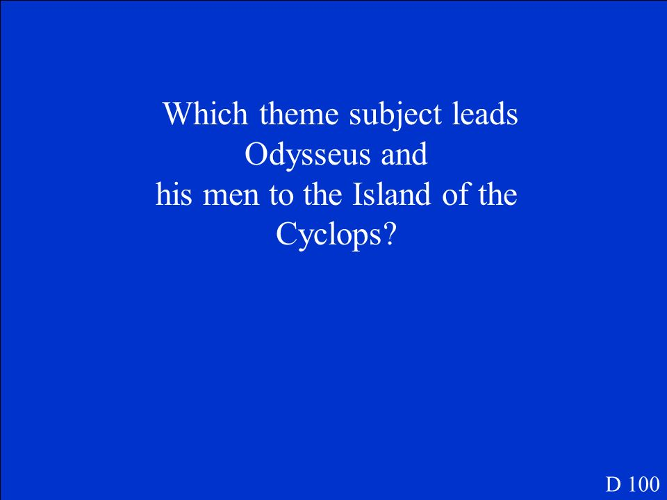 Which theme subject leads Odysseus and