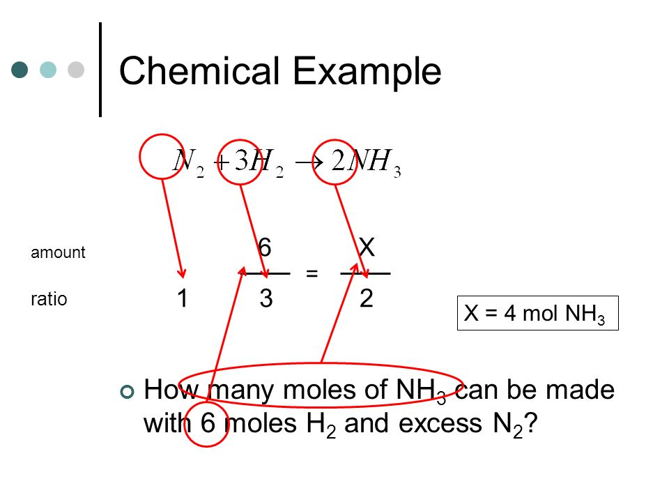 Chemical Example 6. X. amount. = 1. 3. 2.