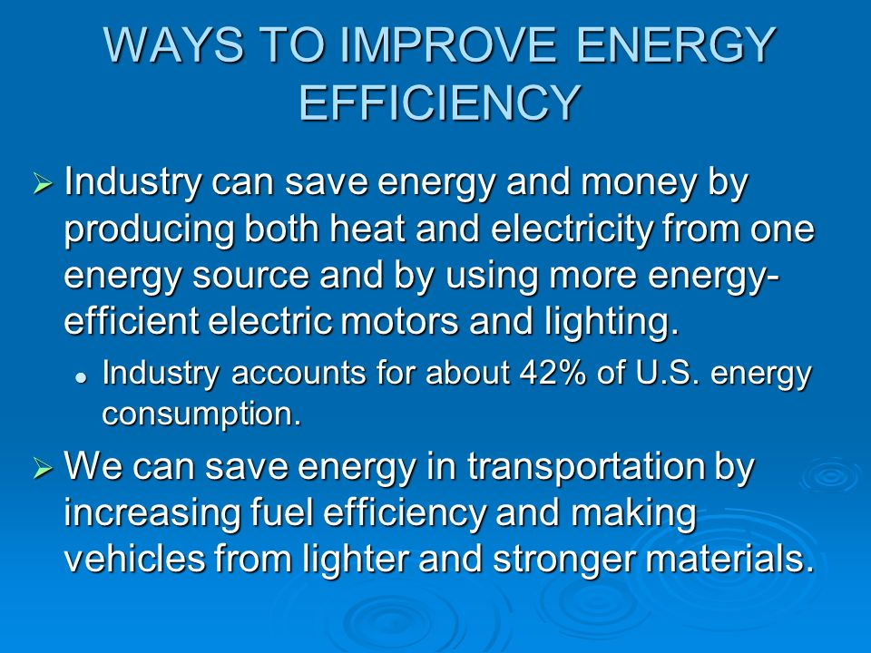 Energy Efficiency And Renewable Energy Ppt Download
