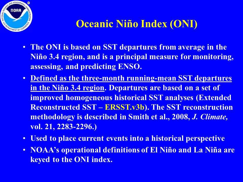 Oceanic Niño Index (ONI)