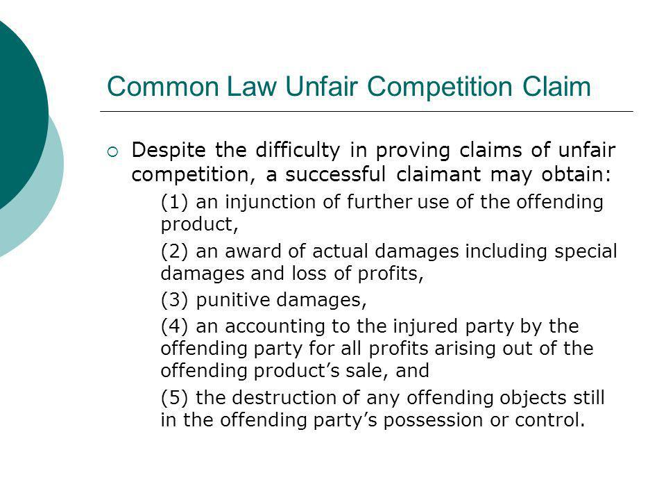 Common Law Unfair Competition Claim
