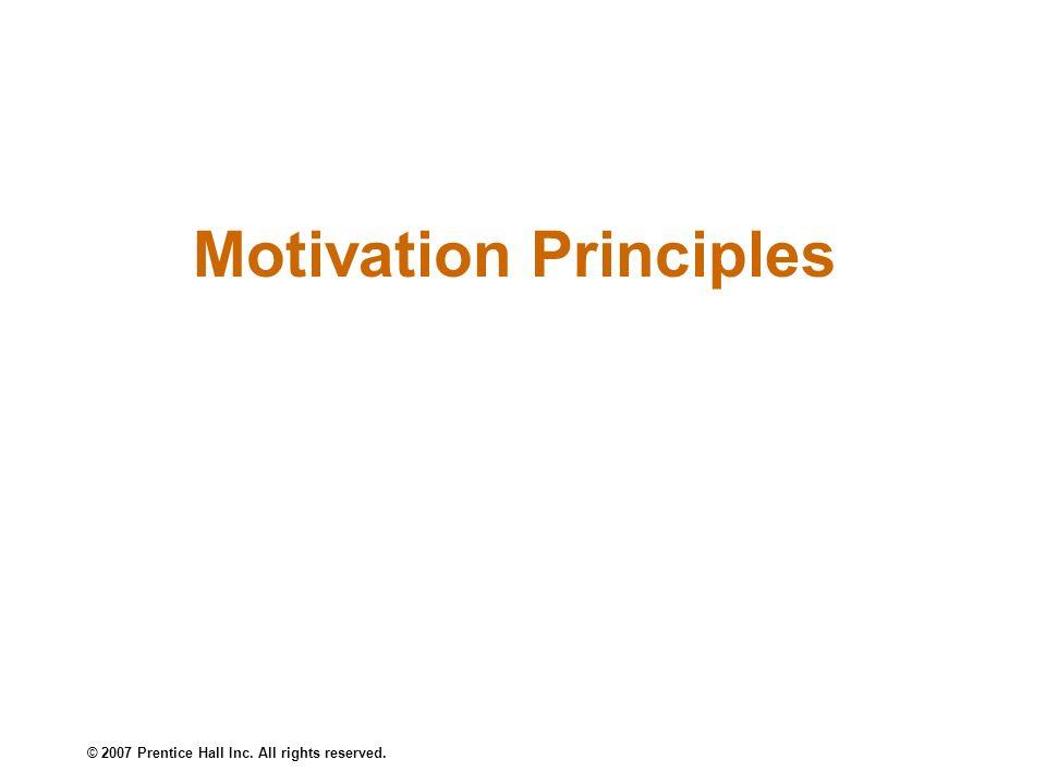Motivation Principles