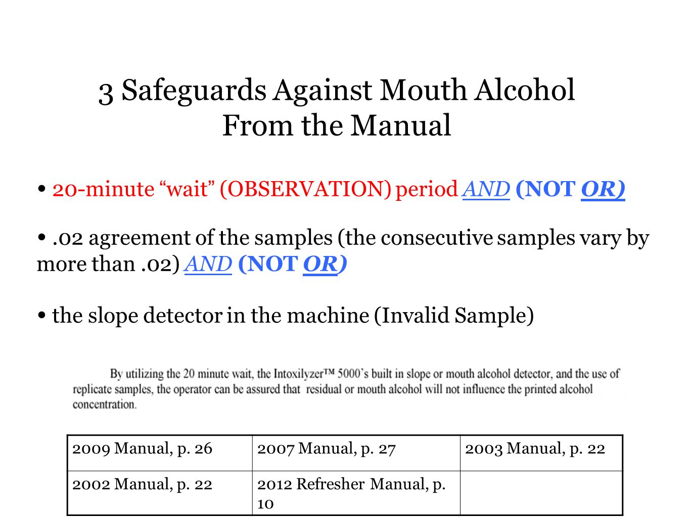 3 Safeguards Against Mouth Alcohol From the Manual