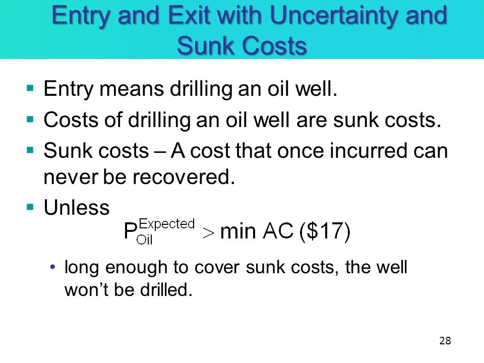 Entry and Exit with Uncertainty and Sunk Costs