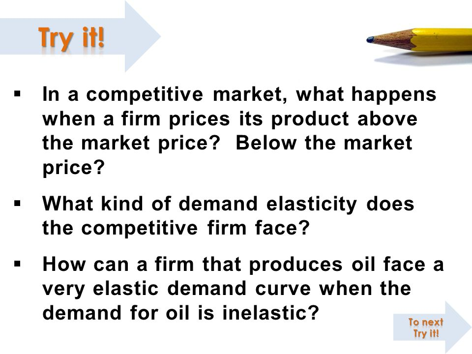 What kind of demand elasticity does the competitive firm face