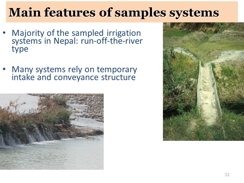 Main features of samples systems