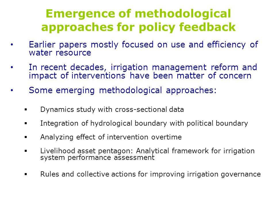 Emergence of methodological approaches for policy feedback