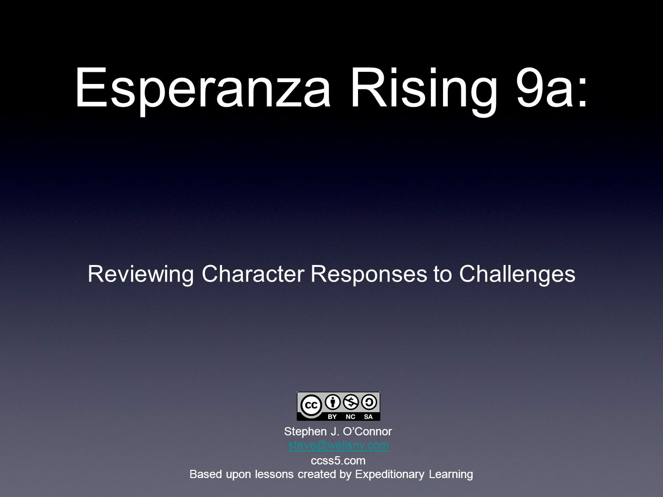 Esperanza Rising 9a: Reviewing Character Responses to Challenges