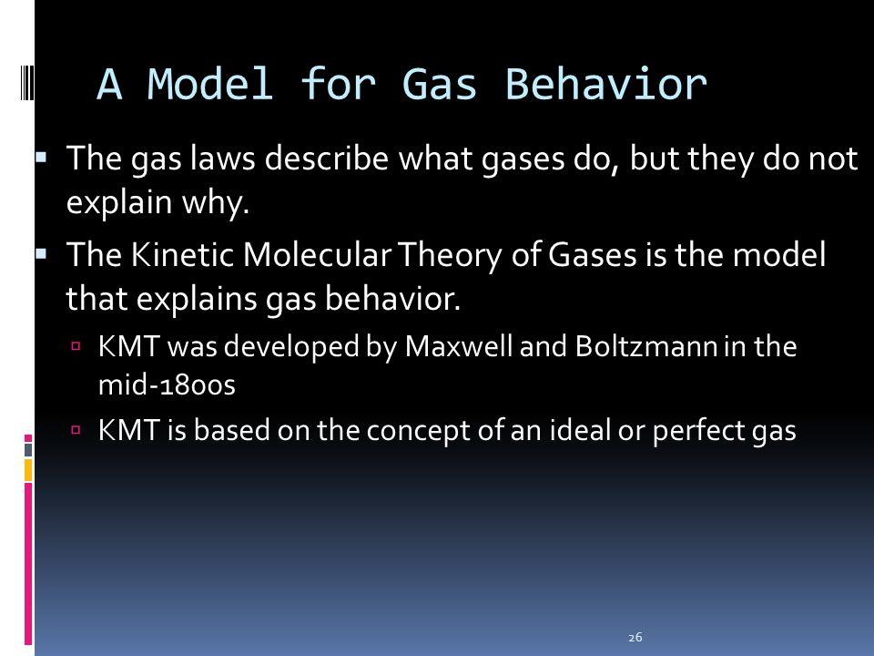 A Model for Gas Behavior