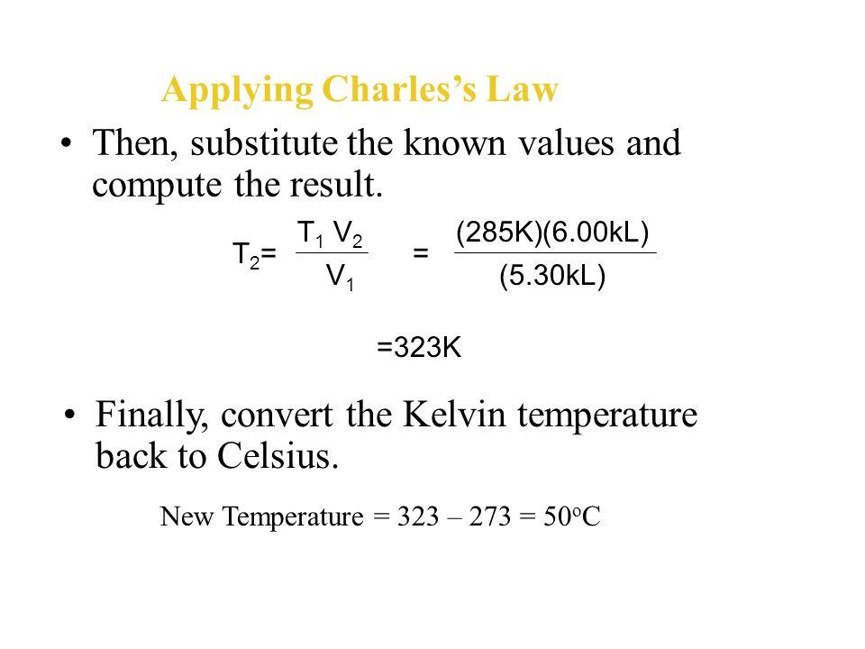 Applying Charles's Law