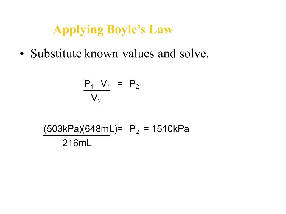 Substitute known values and solve.