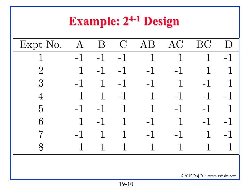 Example: 24-1 Design