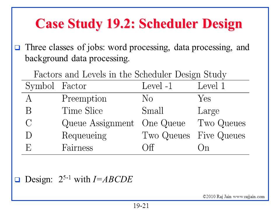 Case Study 19.2: Scheduler Design