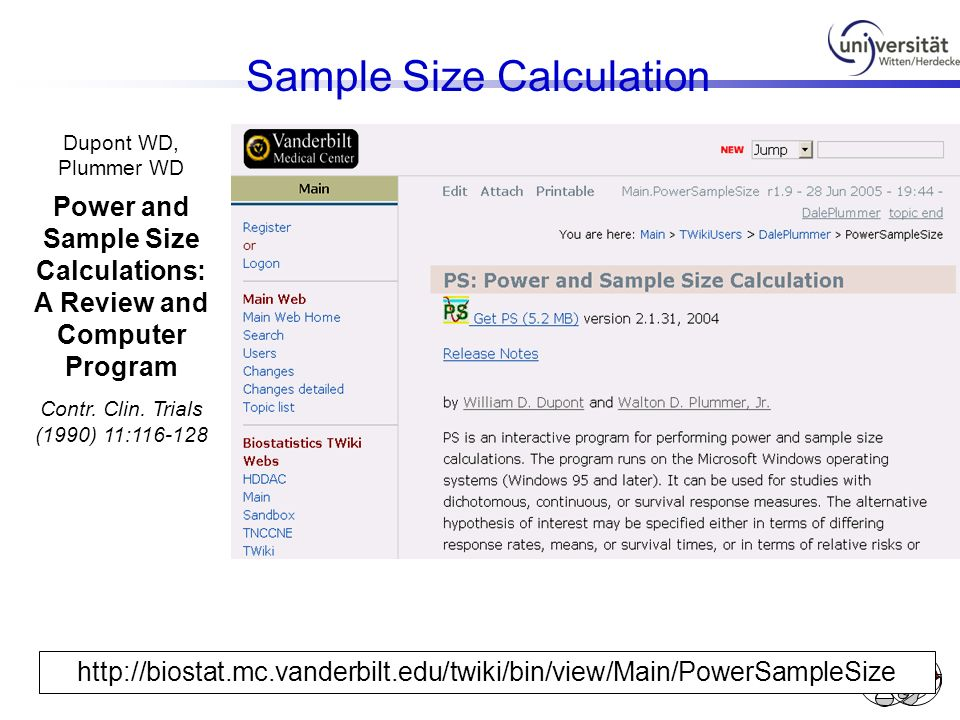 Power and Sample Size Calculations: A Review and Computer Program