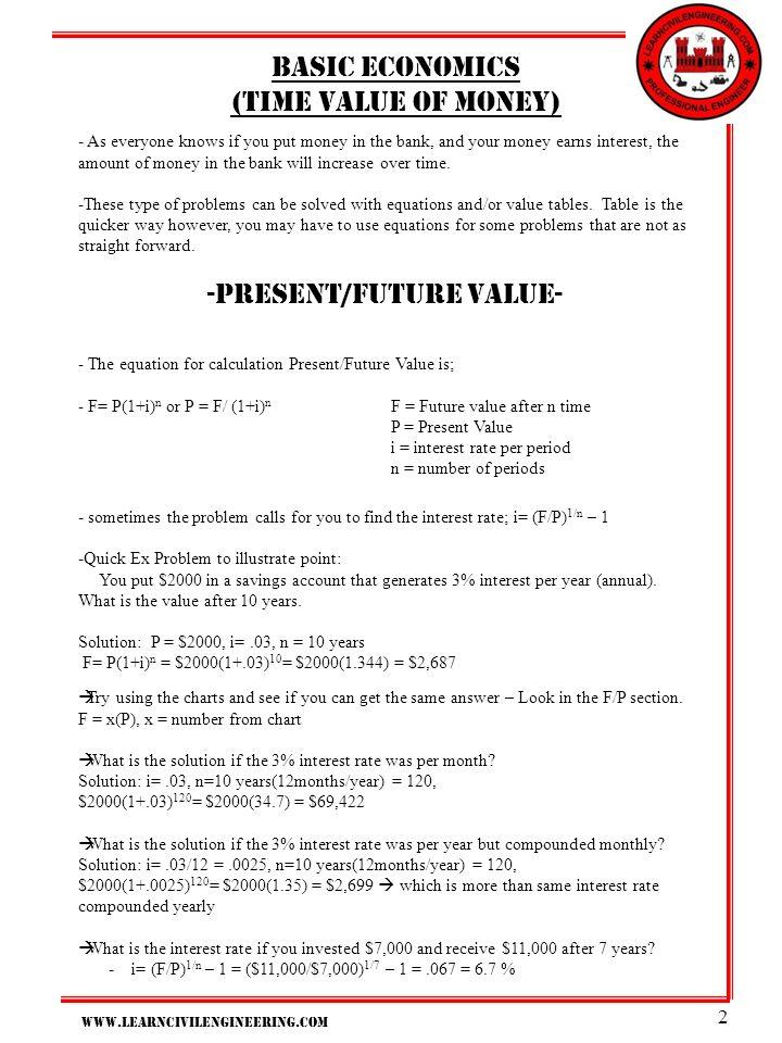 present/future value-
