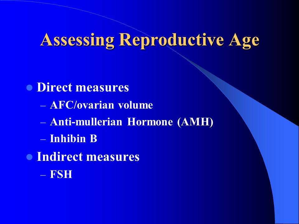 Assessing Reproductive Age