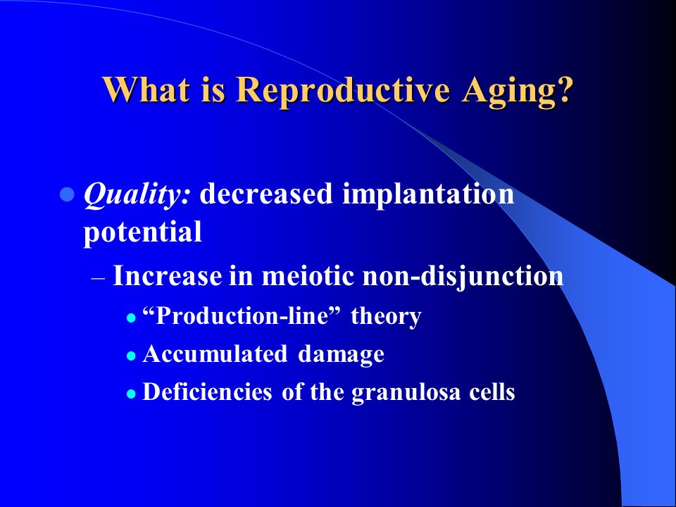 What is Reproductive Aging