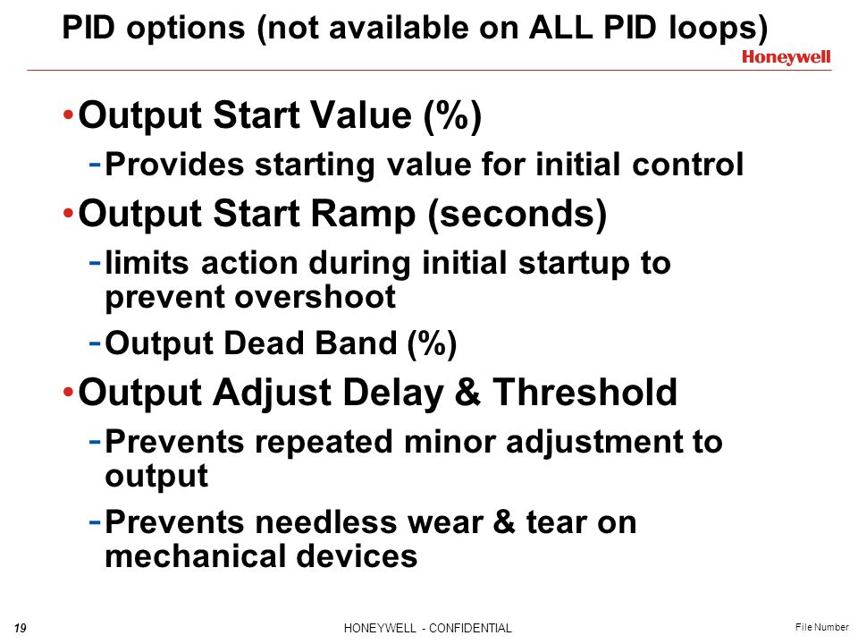 PID options (not available on ALL PID loops)