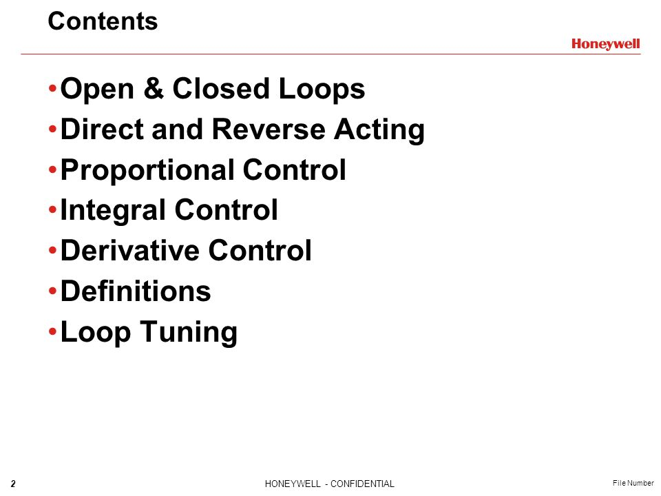 Direct and Reverse Acting Proportional Control Integral Control