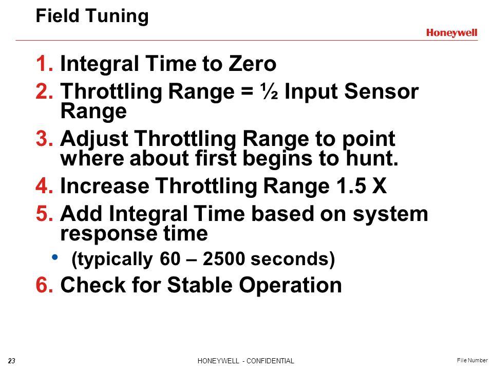 Throttling Range = ½ Input Sensor Range