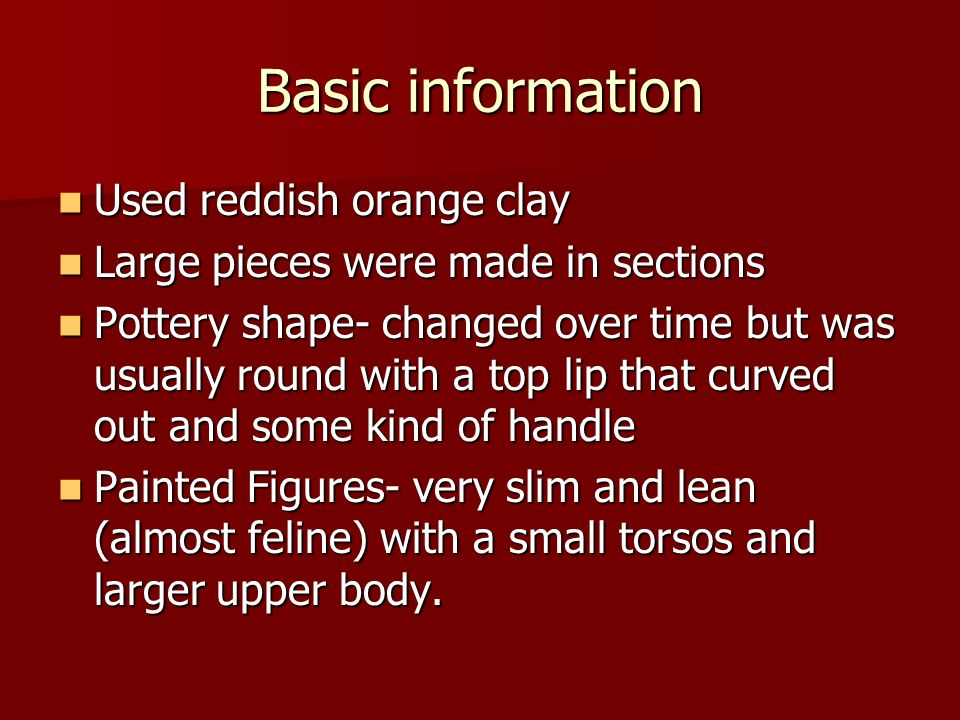 Basic information Used reddish orange clay