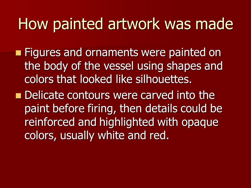 How painted artwork was made