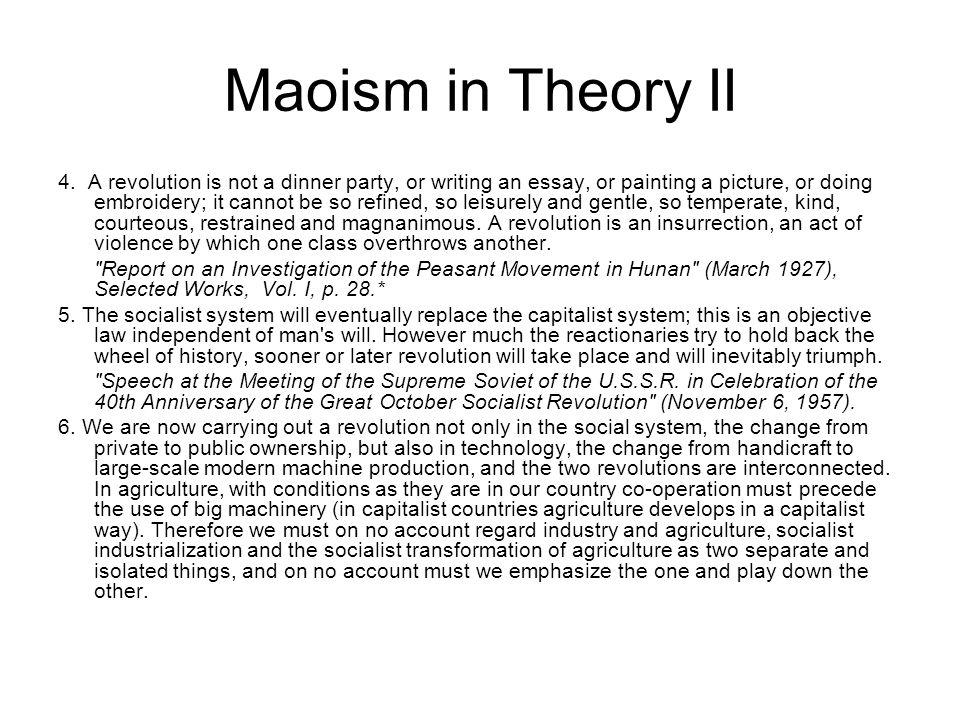 Maoism in Theory II