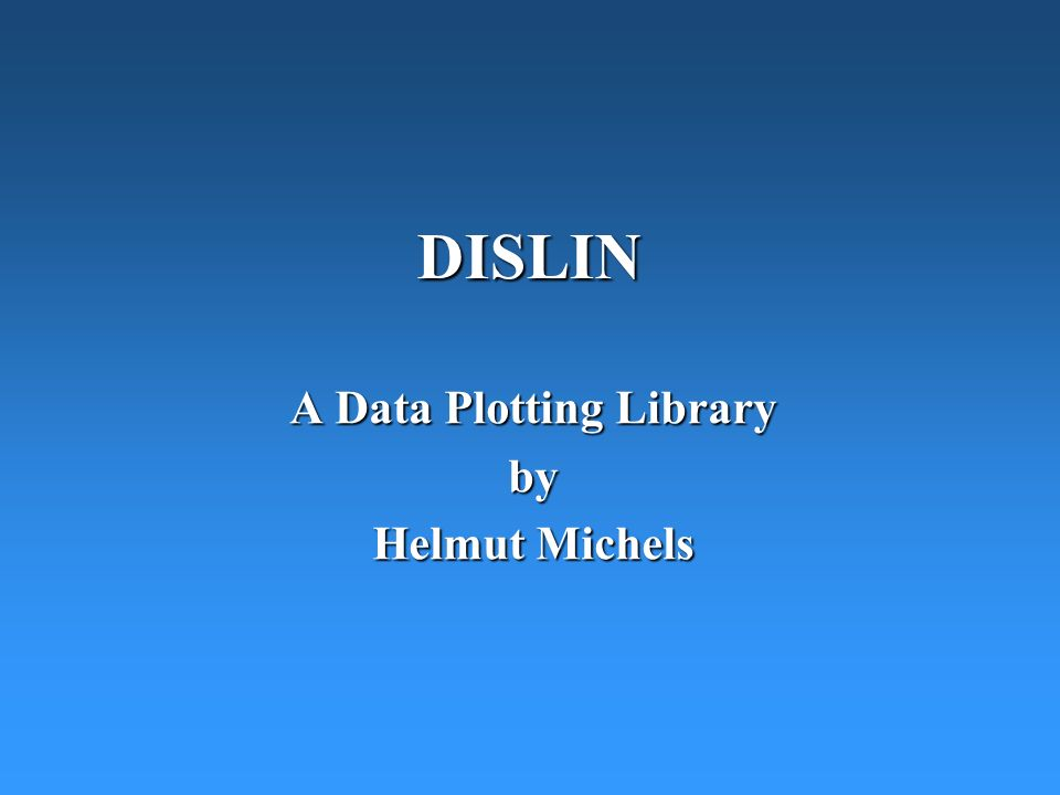 A Data Plotting Library by Helmut Michels