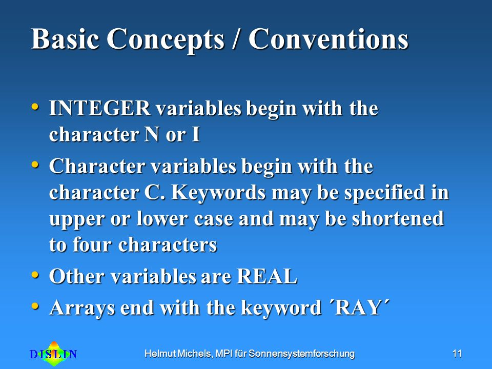 Basic Concepts / Conventions