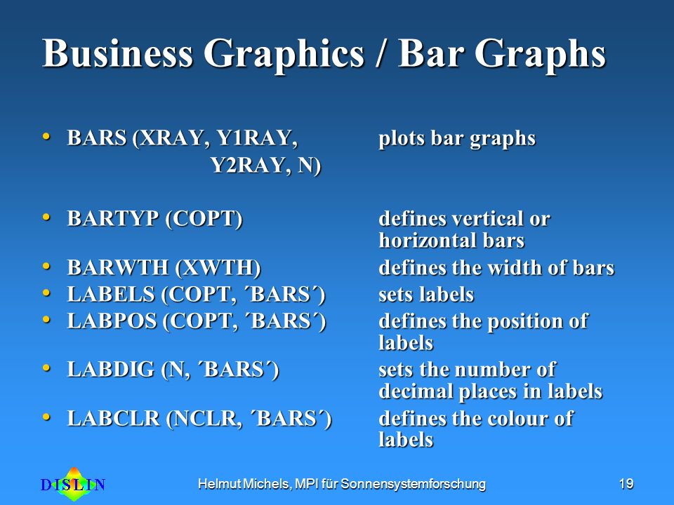 Business Graphics / Bar Graphs