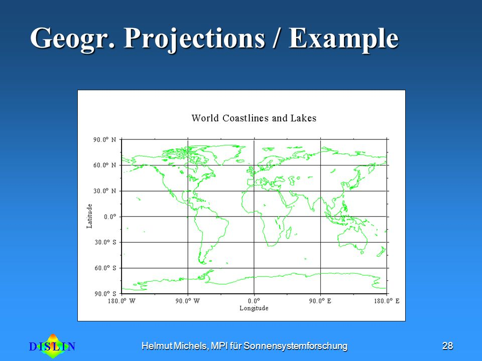 Geogr. Projections / Example