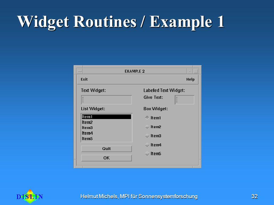 Widget Routines / Example 1