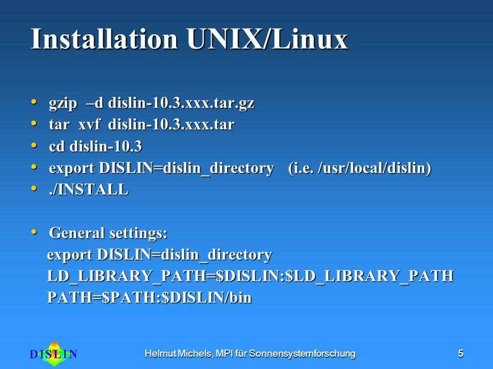 Installation UNIX/Linux