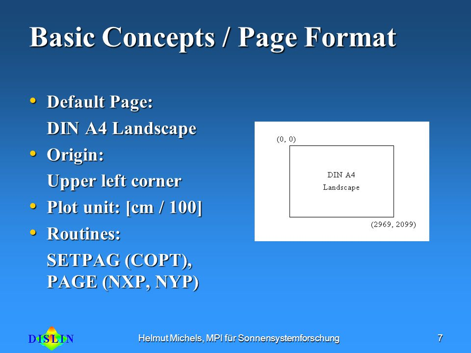 Basic Concepts / Page Format
