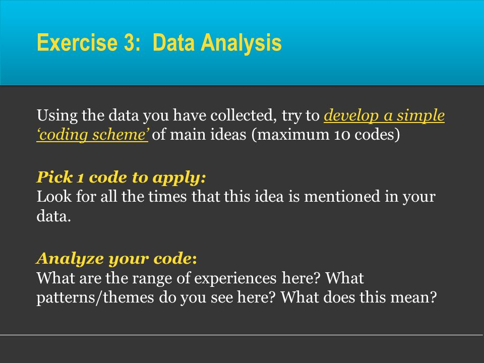Exercise 3: Data Analysis