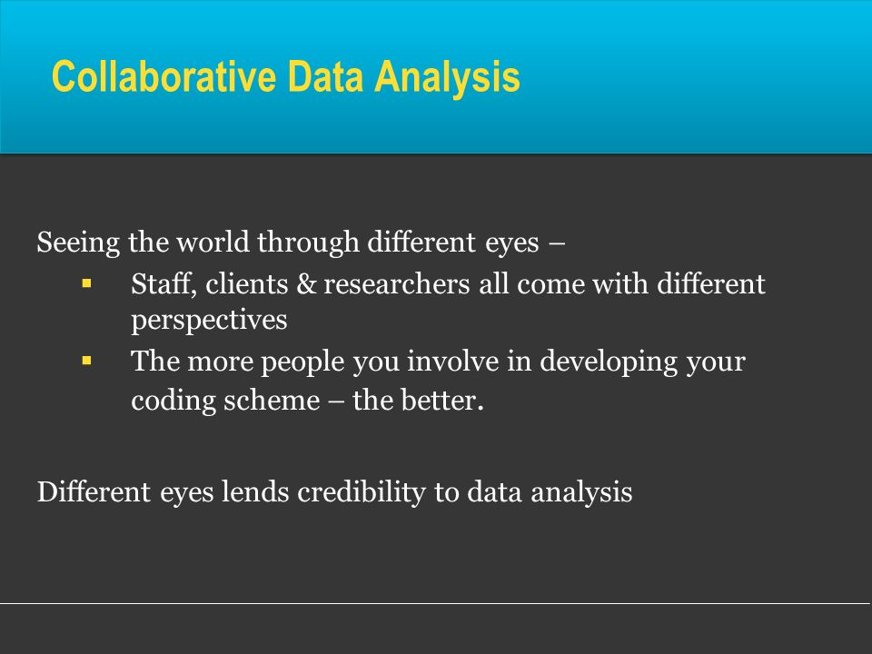 Collaborative Data Analysis