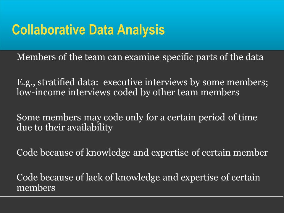Collaborative Data Analysis