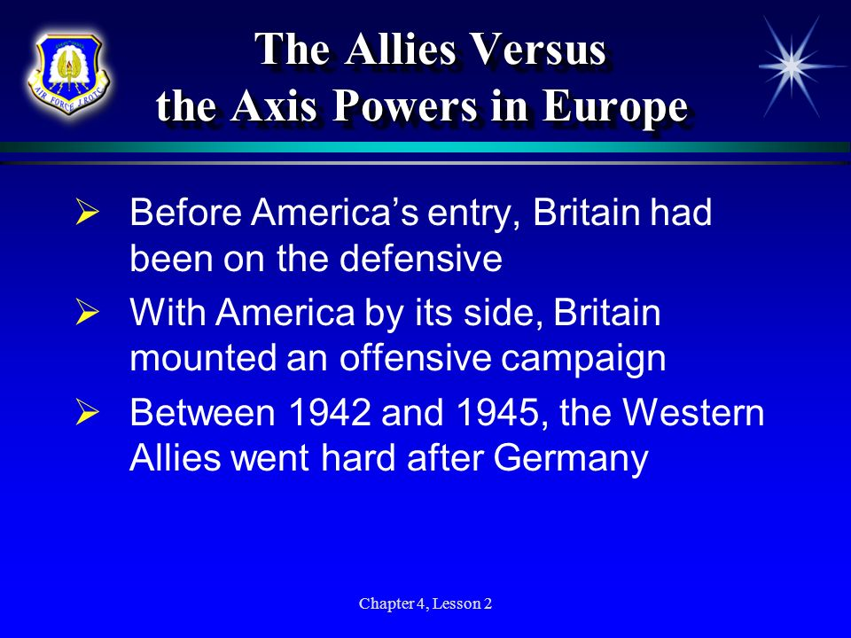 The Allies Versus the Axis Powers in Europe