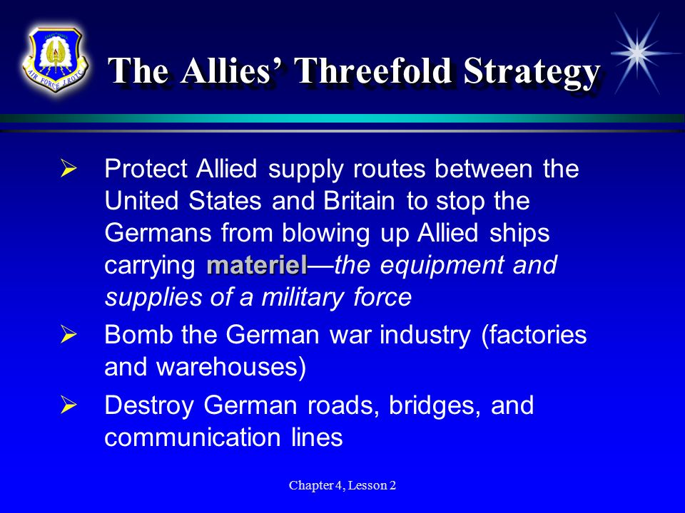 The Allies' Threefold Strategy