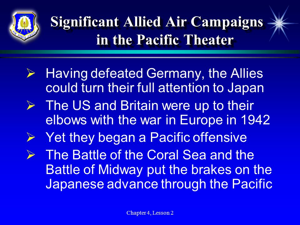 Significant Allied Air Campaigns in the Pacific Theater