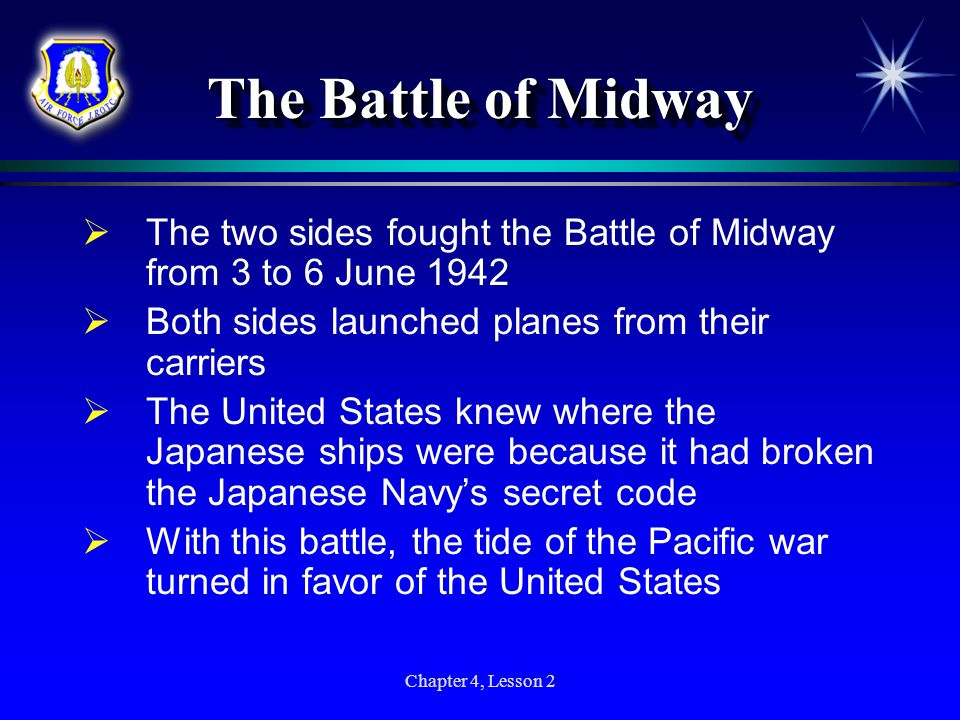 The Battle of Midway The two sides fought the Battle of Midway from 3 to 6 June 1942. Both sides launched planes from their carriers.