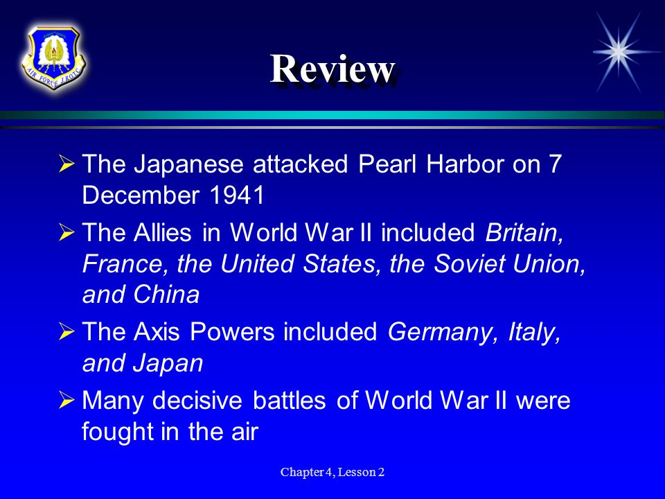 Review The Japanese attacked Pearl Harbor on 7 December 1941