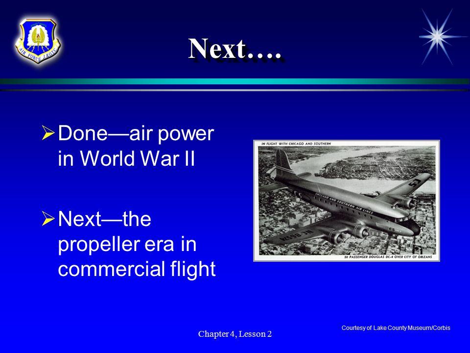 Next…. Done—air power in World War II