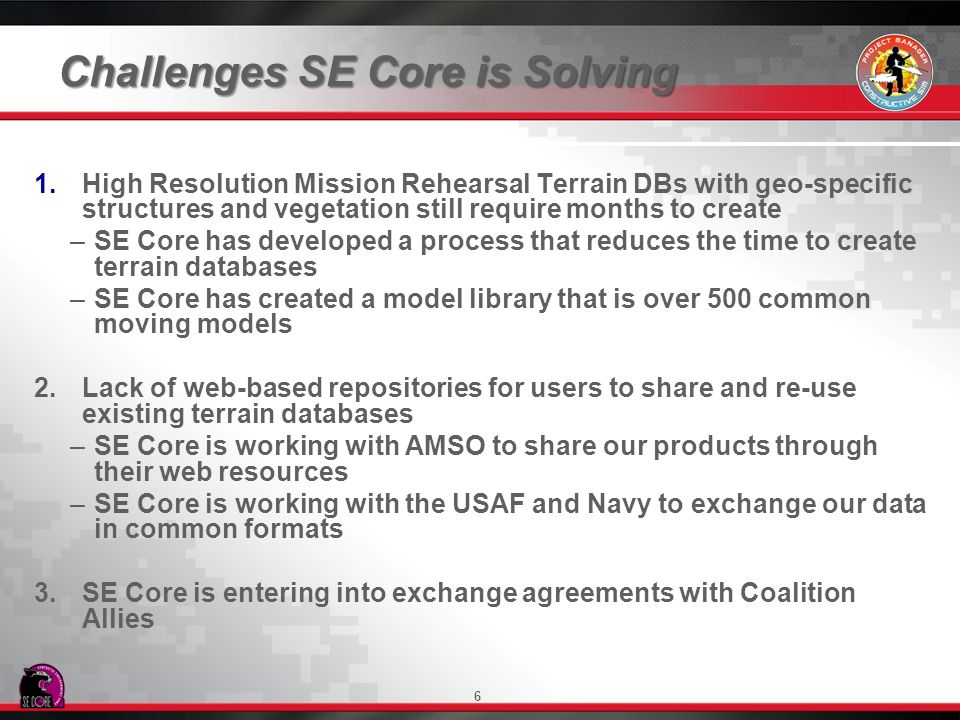 Challenges SE Core is Solving