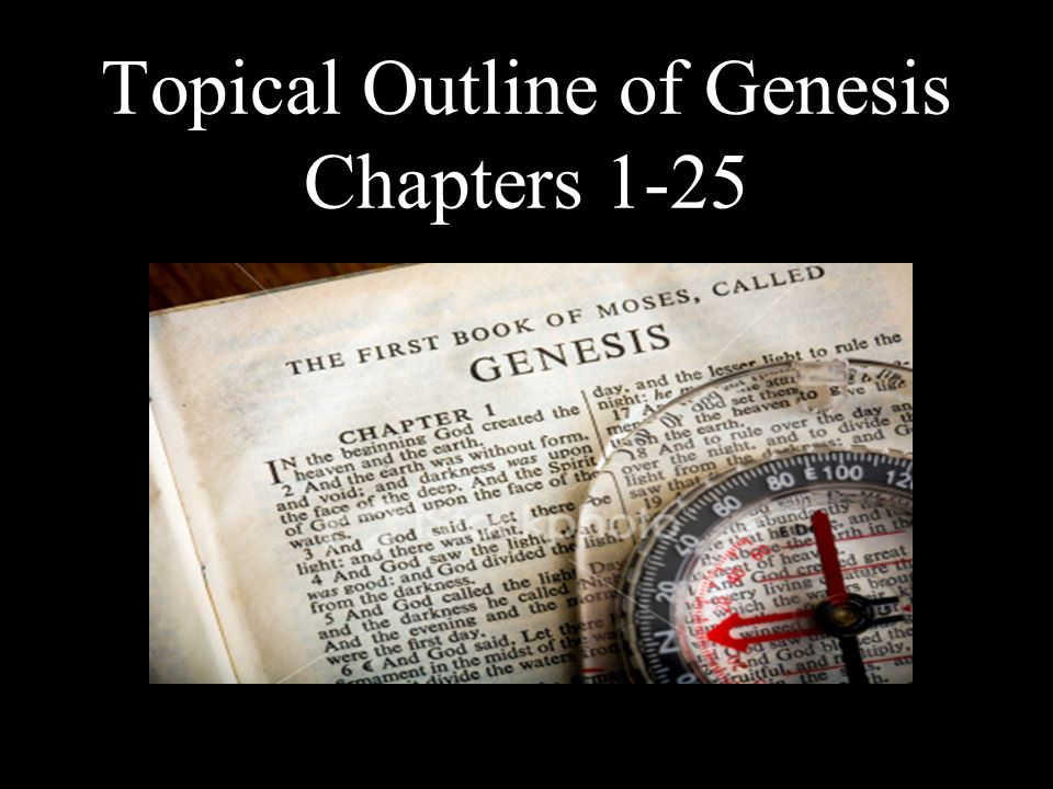 Topical Outline of Genesis Chapters 1-25