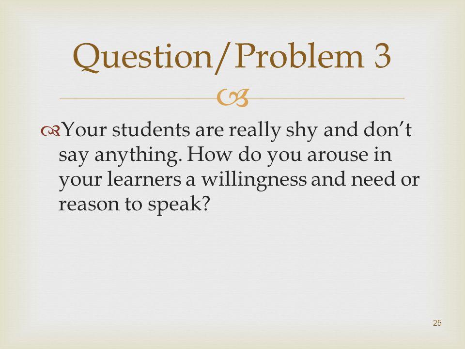 Question/Problem 3