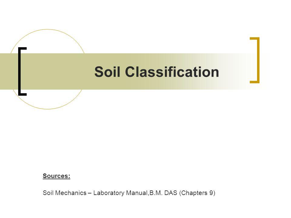Soil Classification Sources: