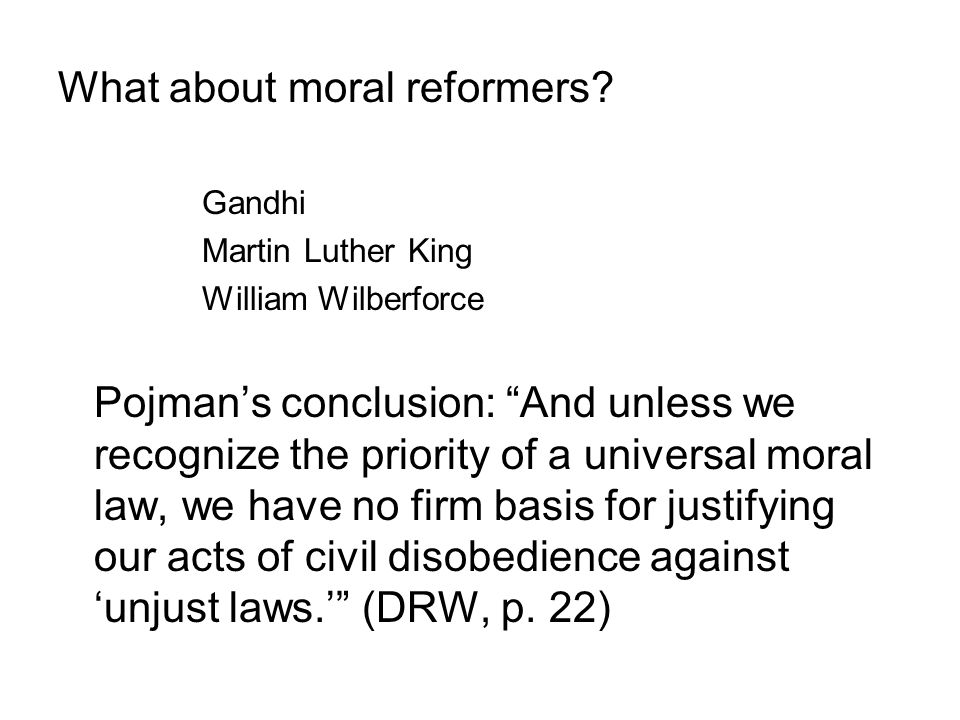 What about moral reformers